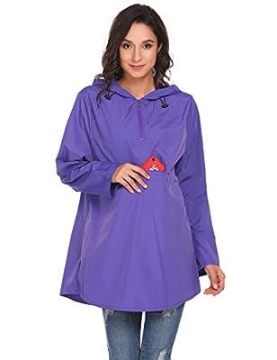Soteer Lightweight Raincoat Active Outdoor Hoodie Cycling Running Windbreaker Jacket For Women