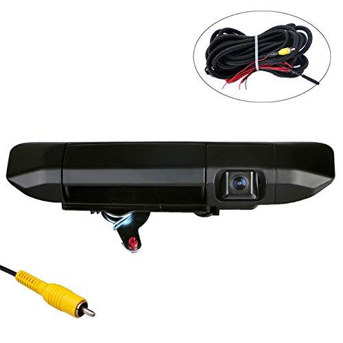 (OMOTOR Tailgate Backup Camera for Toyota Tacoma 2005-2014 Black Tailgate Backup Reverse Handle with Camera)