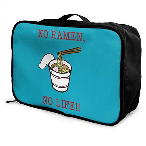 Travel Luggage Duffle Bag Lightweight Portable Handbag Ramen Noodles Large Capacity Waterproof Foldable Storage Tote -