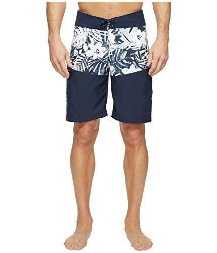 Columbia Men's Low Drag Board Shorts, 38, Collegiate Navy/Botanical Print