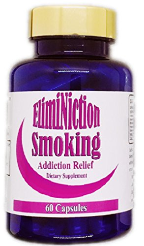 Eliminiction Smoking Addiction Relief Capsules- Reduces Cravings and Withdrawal Symptoms for Nicotine & Cigarettes - Natural Herb Supplements to Lower Stress & Quit Smoking
