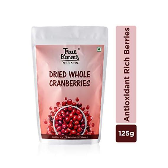 True Elements Dried Cranberries 125gm