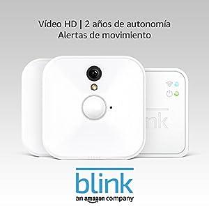 Blink Sistema de cámaras de seguridad para interiores con detección de movimiento, vídeo HD, 2 años de autonomía y almacenamiento en el Cloud - 2 cámaras