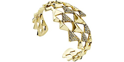 House of Harlow 1960 Bracelet manchette Pyramid Wrap, dorure or 14 carats, brillant, Ø60mm