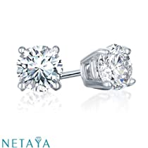 1/2 Ct. tw Stud Earrings in 14K White
