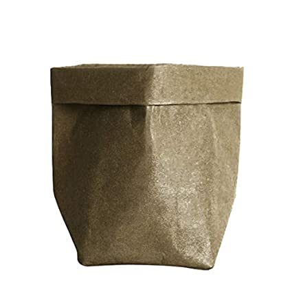 Amazon.com: Contenedor de papel Kraft lavable, decorativo ...