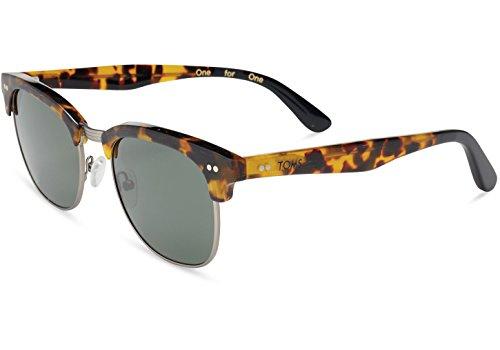 Toms 10007254 Gavin Matte Havana Tortoise Frame Green Grey Lenses Sunglasses