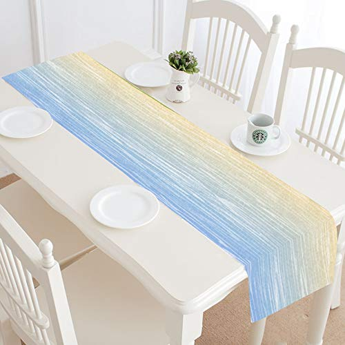 WUwuWU Morning Sun Design Style Cute Table Runner Kitchen Dining Table Runner 16x72 Inch for Dinner Parties Events Decor