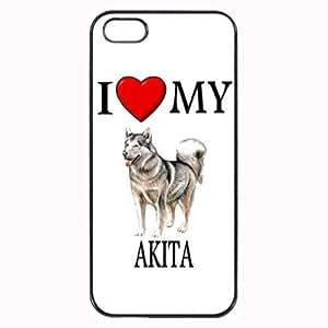 Custom Akita I Love My Dog Photo iPhone 4 4S Case Cover Hard Shell Back