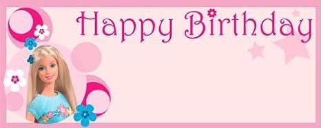 Barbie Feliz cumpleaños grande del diseño personalizado de ...