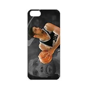NBA San Antonio Spurs Tim Duncan Apple iPhone 5 TPU Soft Black cases for basketball fans Apple iPhone 5 TPU Soft Black or White cases for basketball Spurs fans (White) by supermalls