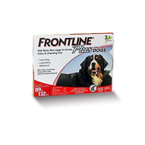 41e4pVZ8DaL - Frontline Plus for Dogs Extra Large Dog (89 to 132 pounds) Flea and Tick Treatment, 3 Doses