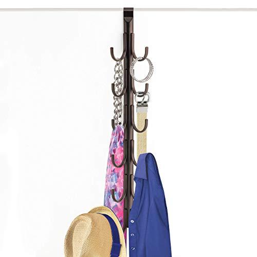 (Lynk Over Door Accessory Hanger - Scarf, Belt, Hat, Jewelry Organizer - Vertical 12 Hook Rack -)
