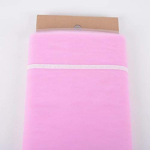 BBCrafts Light Pink Polyester Tulle Fabric Bolt 54 inch 40 Yards