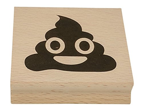 Own Art Rubber Stamp - Poop Emoji Stamp by Paper People - Large Size Wood/Rubber Stamper - Make Your Own Poop Emoji Shirt, Emoji Napkins, Emoji Party Supplies, Poop Emoji Pillow, Nice Small Emoji Gifts