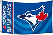 ENMOON Blue Jays Flag for Fans Toronto (3x5ft, Vivid Color, 150D Poly) HD Printing Quality Brass Grommets Bann