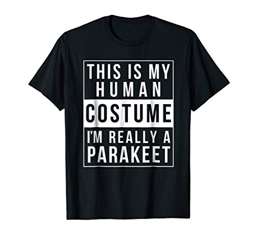 Parakeet Halloween Costume Shirt Funny Easy for kids adults -