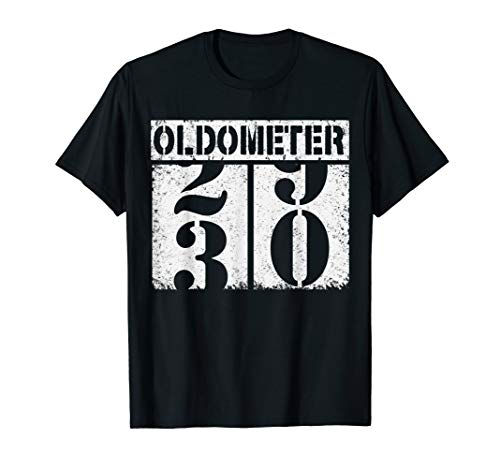 Oldometer 1989 29-30 Funny 30th Birthday Gift 30 yrs Old Tee T-Shirt