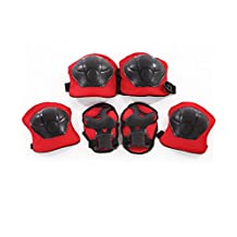Kid's Sports Protective Gear Skating Roller Blading Wrist Knee and Elbow Pads Set Blades Guard BMX Bike Skateboar Safety Equipment - 6 Pieces