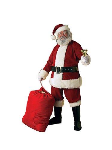 Adult Deluxe Velvet Santa Suit - Standard/Large (Fits Jacket Size 40-48)