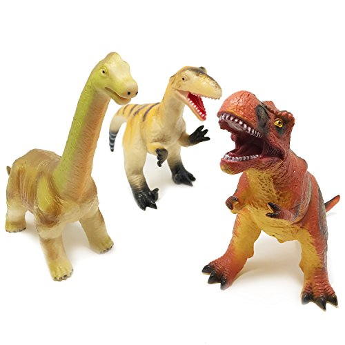 Boley Monster (3-Pack) JUMBO 12'' Dinosaur Set - Great For Young Toddlers - Dinosaur Toy Playset Great as Kids Dinosaurs, Dinosaur Party Favors, and Dinosaur Party Supplies by Boley