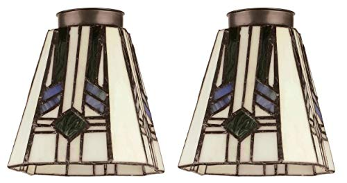 "Westinghouse 8112100 2-1/4"" Square Tiffany Lamp Shade (Pack of 2) from Westinghouse"