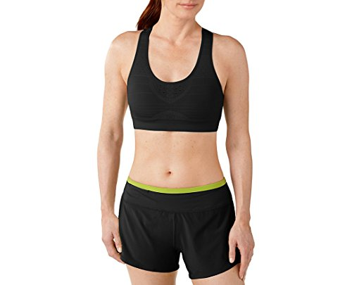 - SmartWool Women's PhD Seamless Racerback Elite Fit Bra Black XS