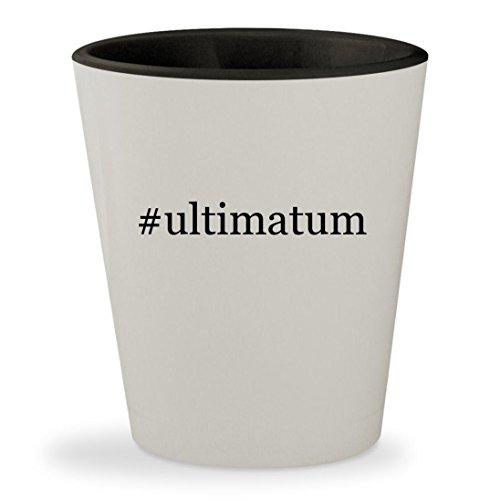 #ultimatum - Hashtag White Outer & Black Inner Ceramic 1.5oz Shot Glass