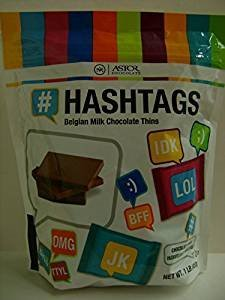Price comparison product image (pack of 2) Belgian Chocolate Hashtags by Astor 1 lb (total 2 lbs)