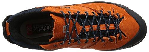 Salomon Men's X Alp LTR GTX Low Rise Hiking Boots, Black, 8 Orange (Clementinex / Deep Blue / Aluminium)