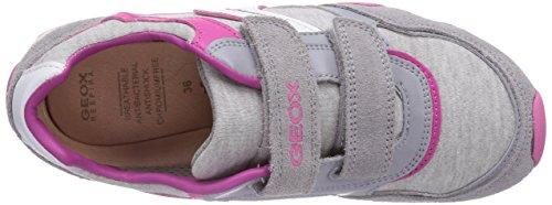 Geox JR NEW JOCKER GIRL A - zapatilla deportiva de material sintético niña gris - Grau (LT GREYC1010)