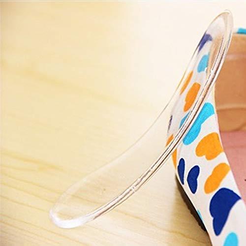 VCB Unsichtbare Silikon High Heels Kissen Protector F/ü/ße Schuhe R/ückenpolster 2 St/ück//Langer Streifen transparent