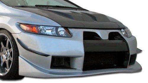 Brightt Duraflex ED-XVZ-280 GT500 Wide Body Front Bumper Cover - 1 Piece Body Kit - Compatible With Civic 2006-2011 (2007 Honda Civic Body Kit)