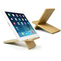 Panasonic Toughpad FZ-G1 Stand and Mount, BoxWave [Bamboo Panel Stand - Large] Wooden Tablet Stand for Panasonic Toughpad FZ-G1