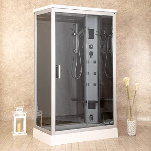 Ducha Air Plus, de 70 x 120 cm, a la derecha, hidromasaje, sauna, baño turco y ozono: Amazon.es: Bricolaje y herramientas