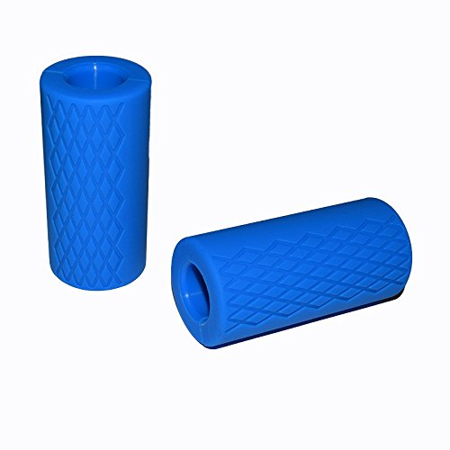 E2shop Dumbbell Grips, Fat Grips, Barbell Grips Thick Bar Adapter Muscle Builder Weightlifting Fat Grips (Blue)