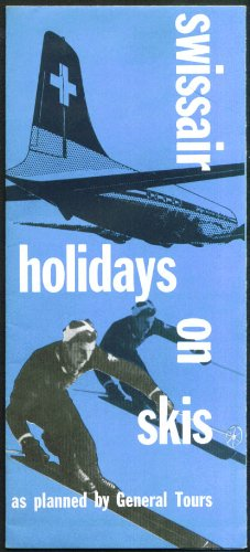 Swissair Holidays on Skis brochure 1955