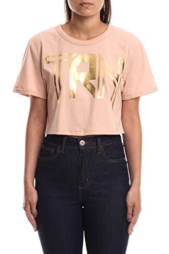 Triton Camiseta Estampada Feminino, M, Bege