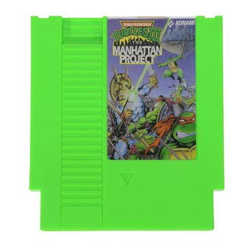 Video Game Card - Video Game Cartridge - Teenage Mutant Ninja Turtles 72 Pin 8 Bit Game Card Cartridge for NES (8 Bit Card Game)]()