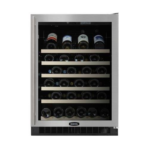 Marvel 61WCMBSGR Standard Efficiency Single Zone Wine Cellar with Right Hinged Frame Glass Door, 24