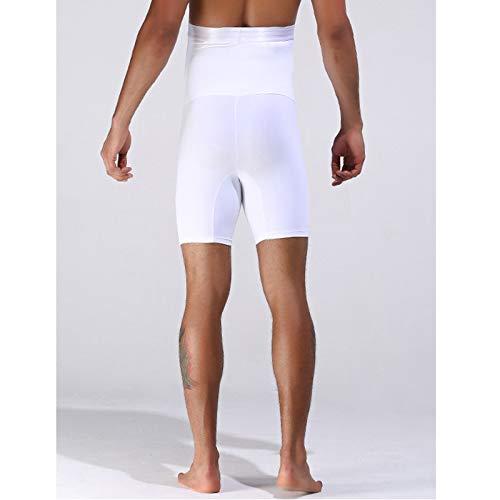ieenay Men Ultra Lift Body Snellente con Slip a Vita Alta da Allenamento con Slip a Forma di Slip,Bianco,M