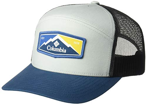 Columbia Men's Trail Evolution II Snap Back Hat, Cool Grey, Petrol Blue Patch, One Size (Boys Ii Men Evolution)