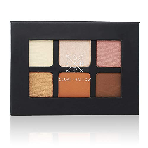 CLOVE HALLOW Pressed Eyeshadow Palette – Organic Highlighter Makeup – Sunrise