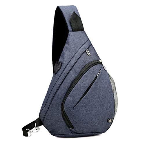 25x12x38cm Azul Bandolera de Lamdoo App 96 Oscuro 84x4 Gray 72x14 para Size diseño 9 Azul Hombre Color Deep Bolso Bandolera 1pnqUxOw4n