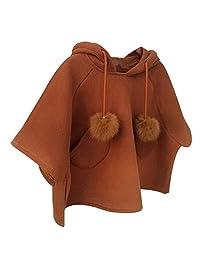 SUPPION Girls Hooded Outerwear Cloak Coat Vest Windbreaker Jackets Outfits