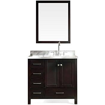 Ariel bathroom vanity cambridge series 37 inch right - Bathroom vanity with right offset sink ...
