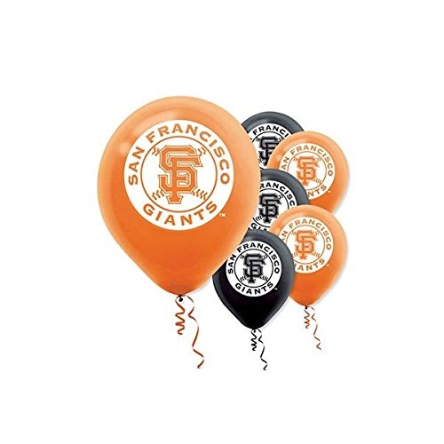 amscan-san-francisco-giants-major-league-baseball-printed-latex-party-balloons-12-black-orange