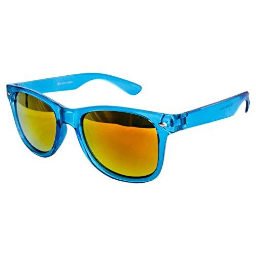 Vintage Soleil STYLE Nerd UV®400 Norme Turquoise de Feuer UV400 Retro Lunette Ciffre Lunettes Miroir Bwq8fxg