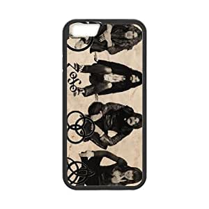 Led Zeppelin 008 iPhone 6 Plus 5.5 pulgadas de la cubierta del caso funda Negro caja del teléfono celular Funda Cubierta EOKXLLNBC00129