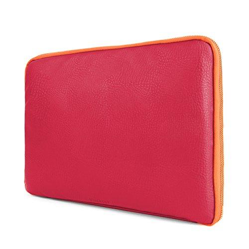 E40 Peach - Premium Irista Laptop Sleeve [Coral/Peach] For Toshiba Satellite, Portege, Click, Tecra, Chrome, KIRAbook 11 to 13.3-inch Laptops
